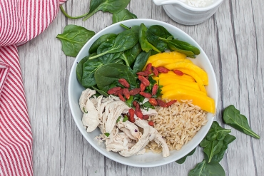 Mango, Chicken, and Rice Salad