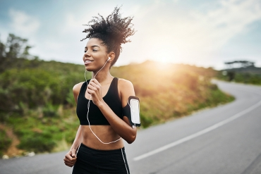 woman jogging consistently