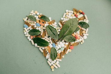 heart made of vitamins