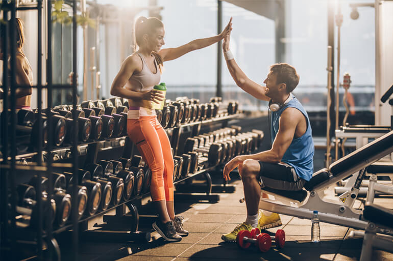couple working out together