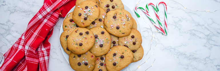 Chocolate Chip and Candy Cane Cookies.
