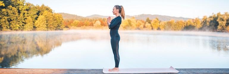 Yoga pose - Mountain pose.