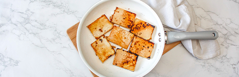 Ginger and Garlic Tofu in a bowl.