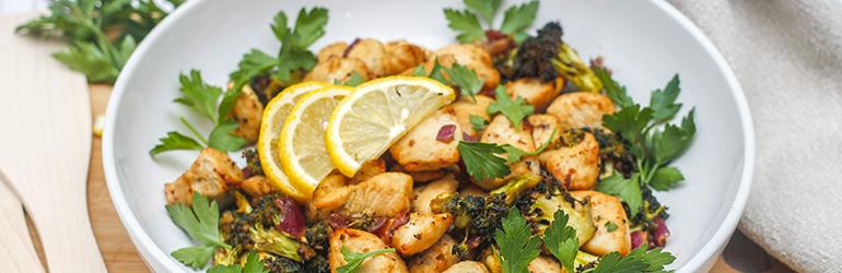 Air fryer chicken & broccoli.