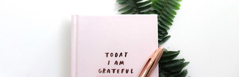 A journal full of gratitude lists.
