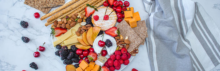 A cheeseboard for summer.