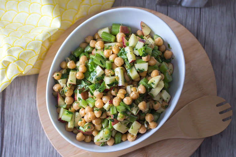 Feed Your Body Friday: Chickpea, Celery, & Apple Salad With Dijon Vinaigrette