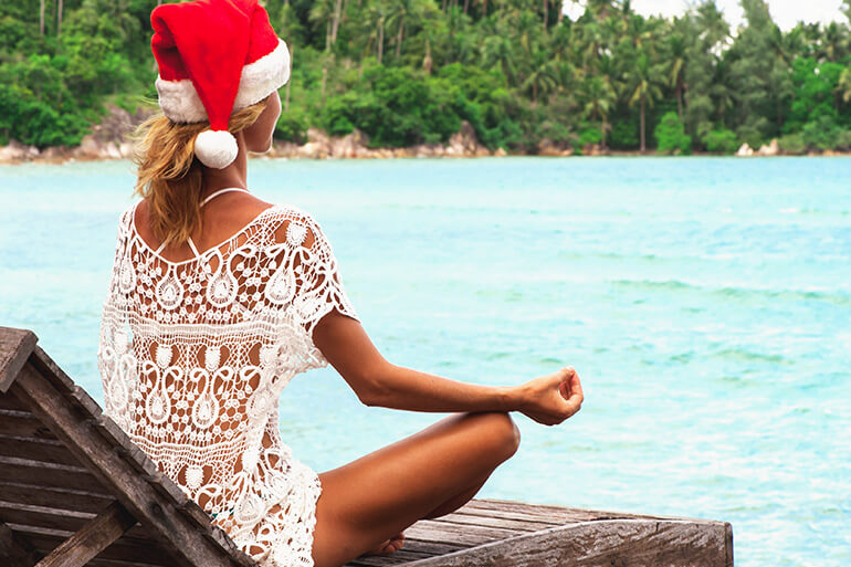 meditate while travelling during the holidays
