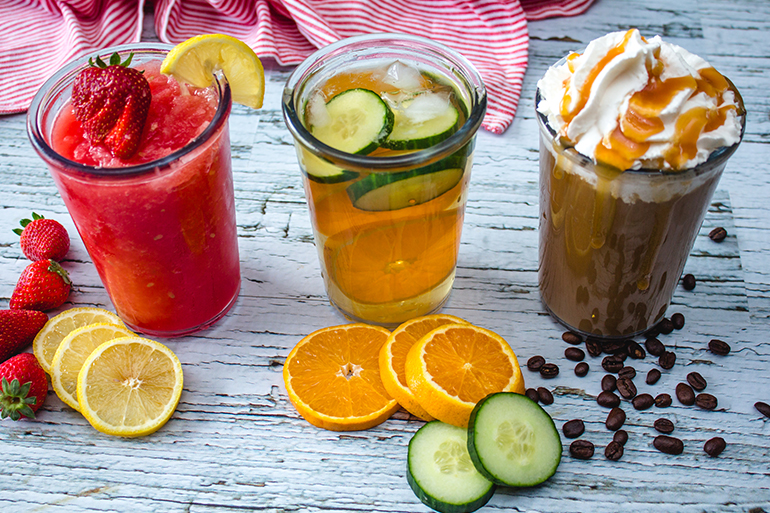 iced summer drinks