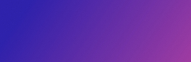 A gradient hue of all the different purple colors.