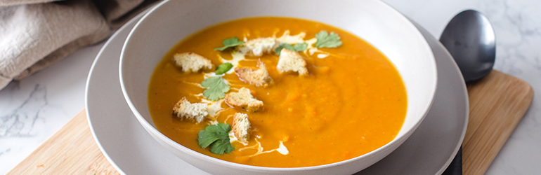 Turmeric, Ginger, and Butternut Squash Soup