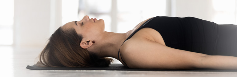 Savasana yoga pose.