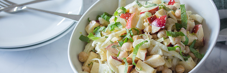 Fennel and chickpea salad.