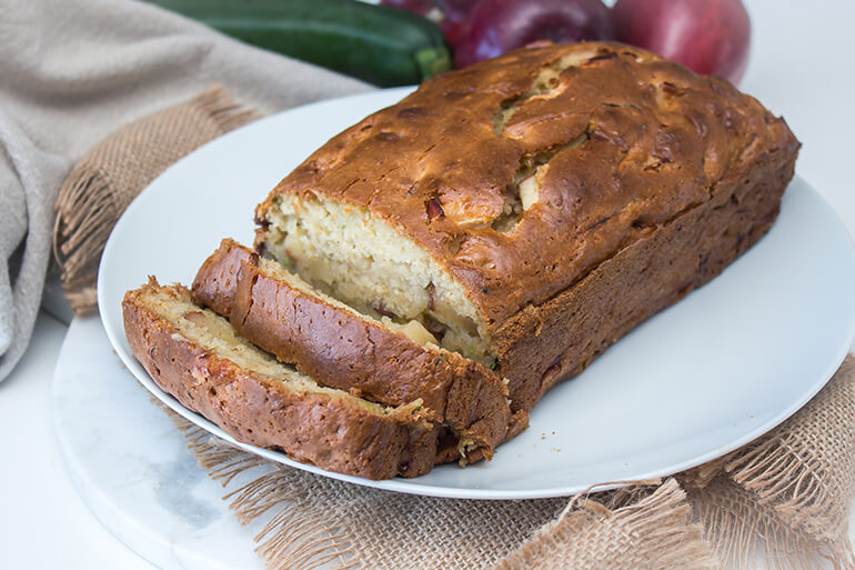 zucchini and apple bread